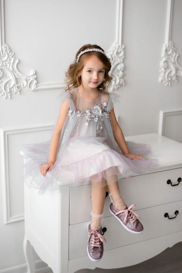 Papilio Kids A-line dress with flower decor