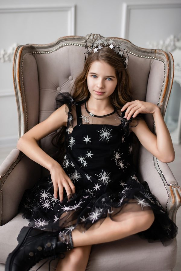 Papilio Kids tulle dress with stars
