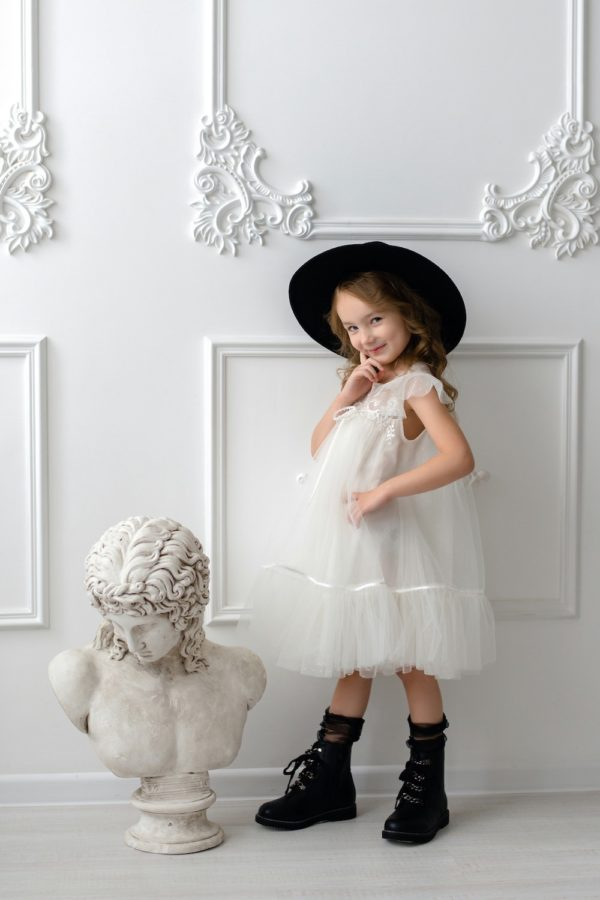Papilio Kids cup sleeve flower girl dress