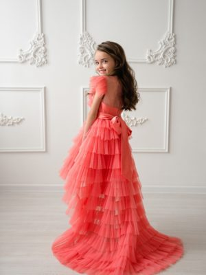 Papilio kids high-low dress