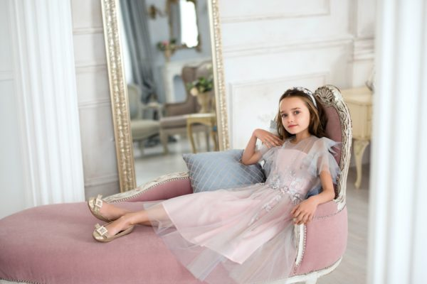 Papilio Kids dress with ruffled cup sleeves